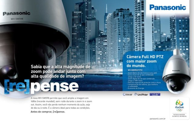 Anúncio Panasonic CFTV para revista Digital Security | Design Gráfico | SLCreative